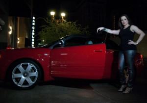 Hot woman, hot car