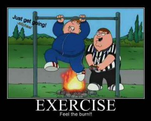 New Year's Resolutionists crowd the gym - family guy
