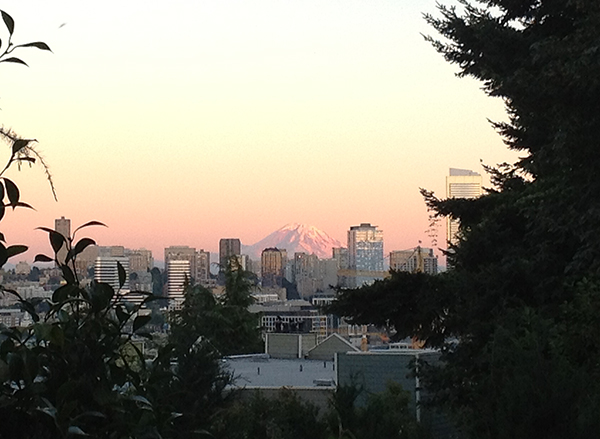 View of Mt Rainier from Queen Anne Hill