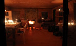 Cabin - full view in candlelight