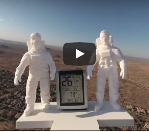 We sent a 3D sculpture into space!